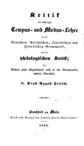 Kritik der bisherigen Grammatik und der philologischen Kritik