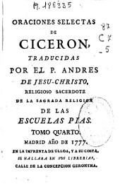 Oraciones selectas de Ciceron