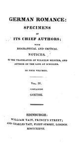 German Romance: Goethe, Wilhelm Meister's travels
