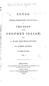 Notes: Critical, Explanatory, and Practical on the Book of the Prophet Isaiah: With a New Translation