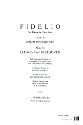 FIDELIO AN OPERA IN TWO ACTS