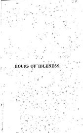 Hours of idleness: a series of poems, original and translated ...