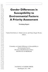 Gender Differences in Susceptibility to Environmental Factors:: A Priority Assessment
