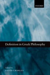 Definition in Greek Philosophy