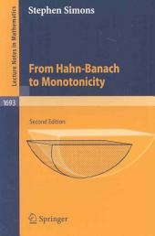 From Hahn-Banach to Monotonicity: Issue 1693