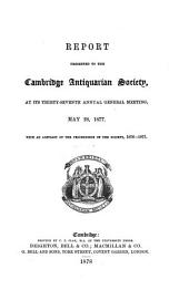 Cambridge Antiquarian Communications: Volume 4, Issue 1