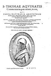 Commentaria in ... Parva Naturalia Aristotelis