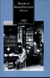 History of Higher Education Annual: 1992