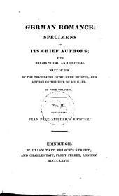 German Romance: Richter, J. P. F.: Army-chaplain Schmelzle's journey to Flätz. Life of Quintus Fixlein