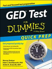 GED Test For Dummies, Quick Prep Edition