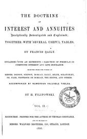 Doctrine of Interest and Annuities ... with ... Tables, Enl. ...