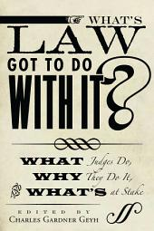 What's Law Got to Do With It?: What Judges Do, Why They Do It, and What's at Stake