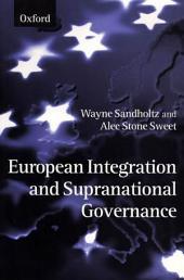 European Integration and Supranational Governance