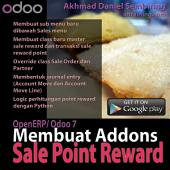 OpenERP/ Odoo 7: Membuat Addons Sale Point Reward: Termasuk Source Code