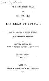 The Heimskringla: Volume 2