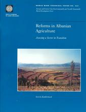 Reforms in Albanian Agriculture: Assessing a Sector in Transition, Volumes 23-431