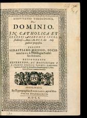 Disputatio theologica de dominio