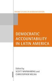 Democratic Accountability in Latin America