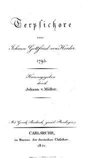 J. G. v. Herders Sammtliche Werke, Terpsichore