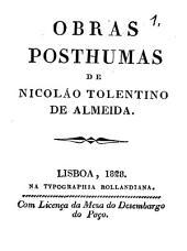 Obras posthumas de Nicoláo Tolentino de Almeida