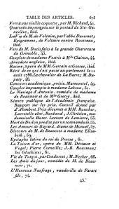 Correspondance littéraire, philosophique et critique: adressée à un souverain d'Allemagne, pendant une partie des années 1775-1776, et pendant les années 1782 à 1790 inclusivement
