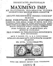 De Maximino imp. ... Resp. Jo. Guil. Schaubert - Altorfii, Meyer 1741