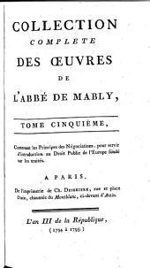 Collection complète des œuvres de l'abbé de Mably