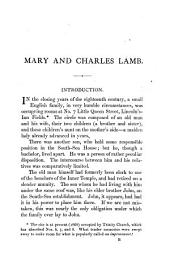Mary and Charles Lamb: Poems, Letters
