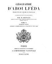 Géographie d'Aboulféda