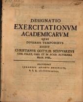 Designatio exercitationum academicarum