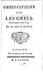 Observations sur les Grecs