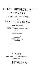 Delle rivoluzioni d' italia libri Ventiquattro