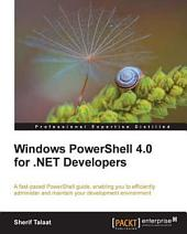 Windows PowerShell 4.0 for .NET Developers