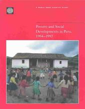 Poverty and Social Developments in Peru, 1994-1997