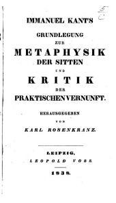 I. Kant's sämmtliche Werke: Bände 8-9