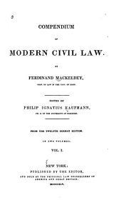 Compendium of Modern Civil Law: Volume 1