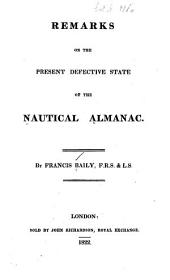 Remarks on the Present Defective State of the Nautical Almanac
