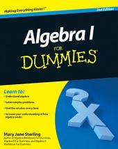 Algebra I For Dummies: Edition 2