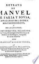 Retrato de Manuel de Faria y Sousa ...: contiene una ...