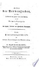 Ueber die Nervenfieber, welche in Berlin im Jahre 1807 herrschten, ...