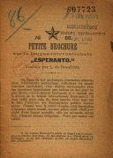 """Find N°68. Petite brochure sur la langue internationale """"Esperanto"""" Traduite par L. de Beaufront at Google Books"""