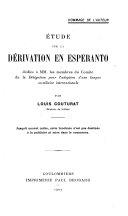 Find Étude sur la dérivation en esperanto at Google Books