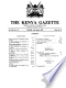 Kenya Gazette - 16. März 2001