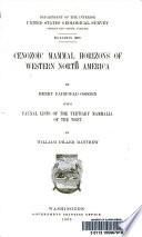 Cenozoic mammal horizons of western North America