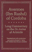 Find Long Commentary on the De Anima of Aristotle at Google Books