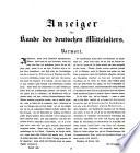 Anzeiger für Kunde des deutschen Mittelalters: Eine ...