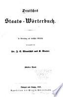 Deutsches Staats-Wörterbuch: Bd. Hausfriede-Konsumtion