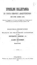 Specklini collectanea in usum chronici argentinensis bis zum Jahre ...