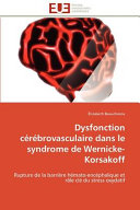 Dysfonction cérébrovasculaire dans le syndrome de ...