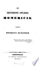 De Zenodoti studiis Homericis